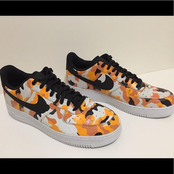 Por adelantado Quien Abandono  Nike Shoes | Air Force 7 Lv8 Orange Camo | Poshmark